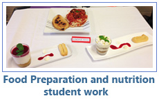 Food Preparation and nutrition student work