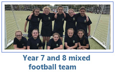 Year 7 and 8 Football team